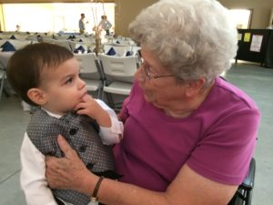 Kisses with Great-Grandma