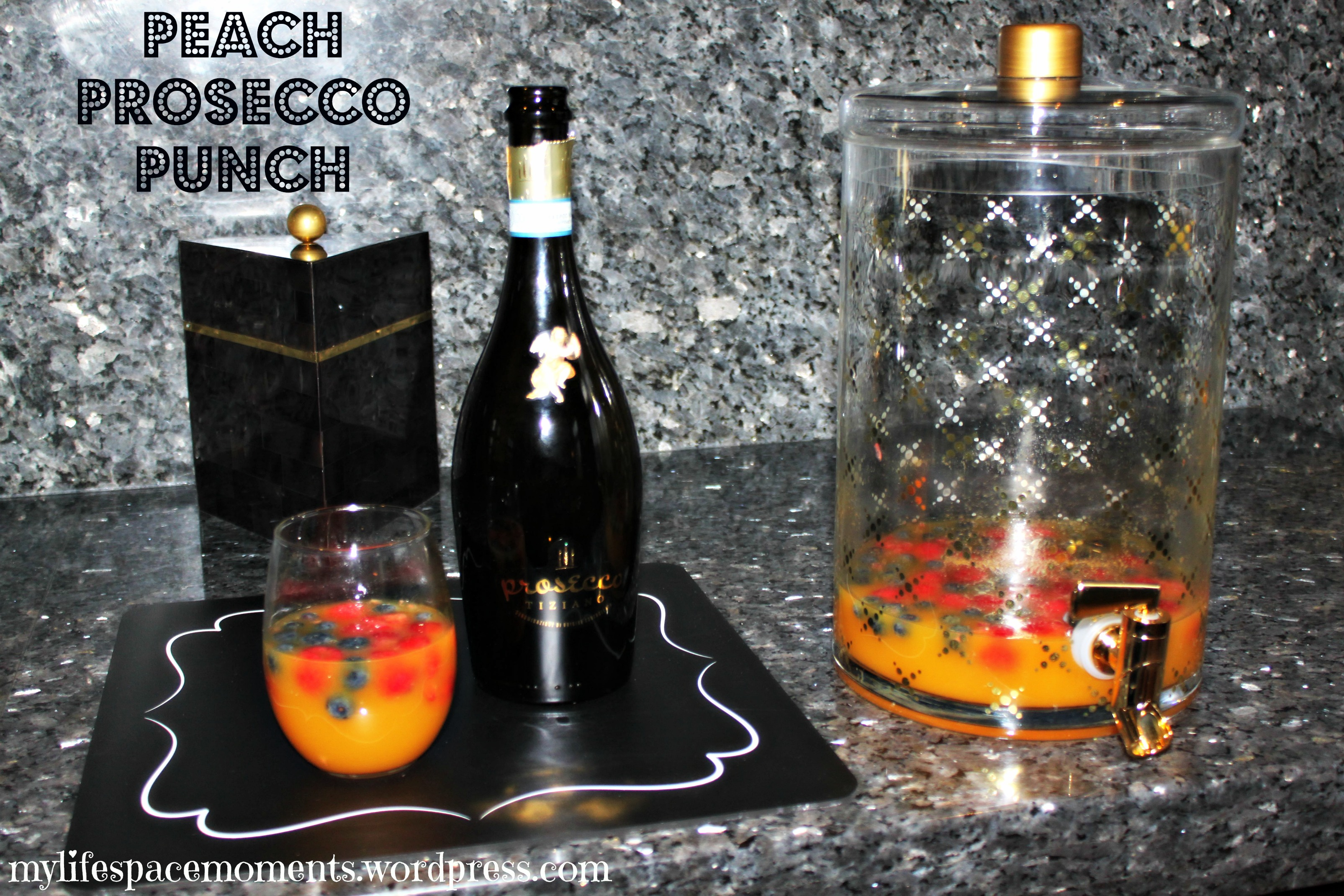 Peach Prosecco Punch - {My Favorite Things Party}