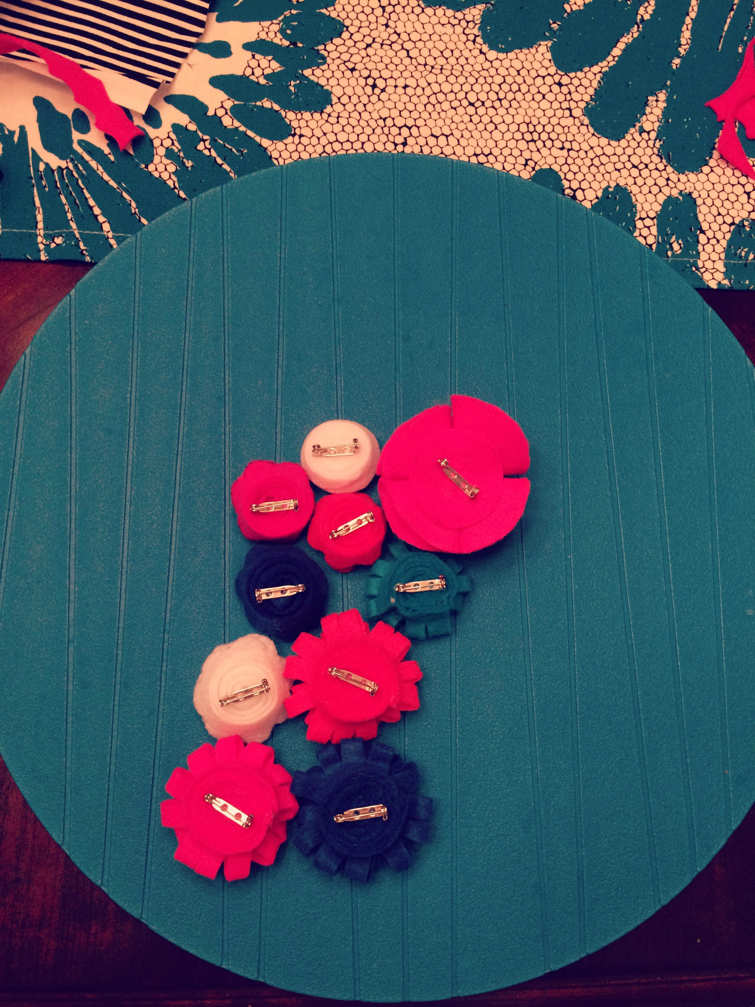 {My DIY Felt Flowers with Pin Backs}