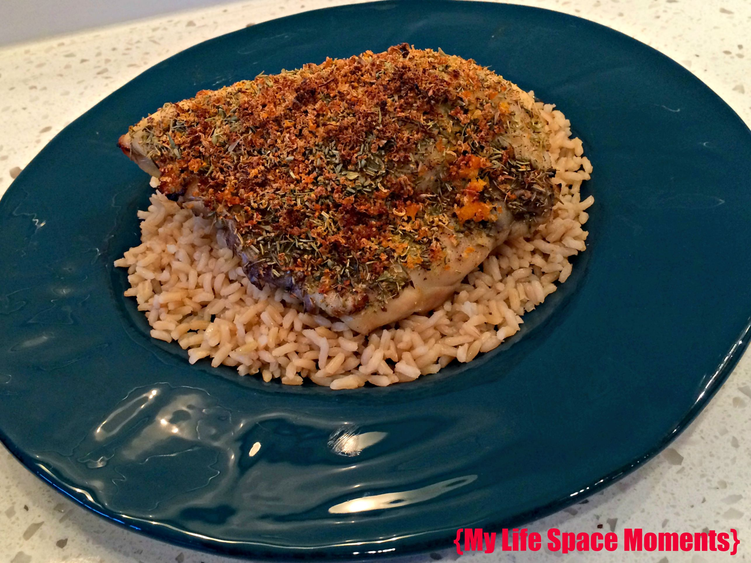 Citrus Herb Crusted Chicken - {My Life Space Moments}