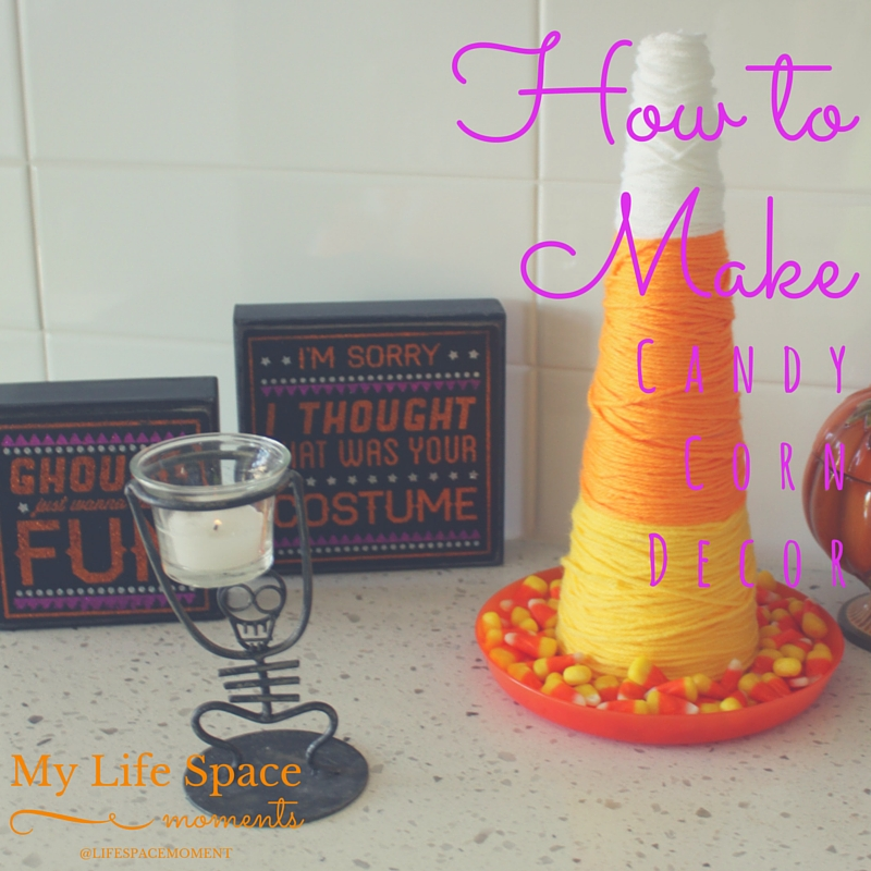 How to Make Candy Corn Decor | {My Life Space Moments}