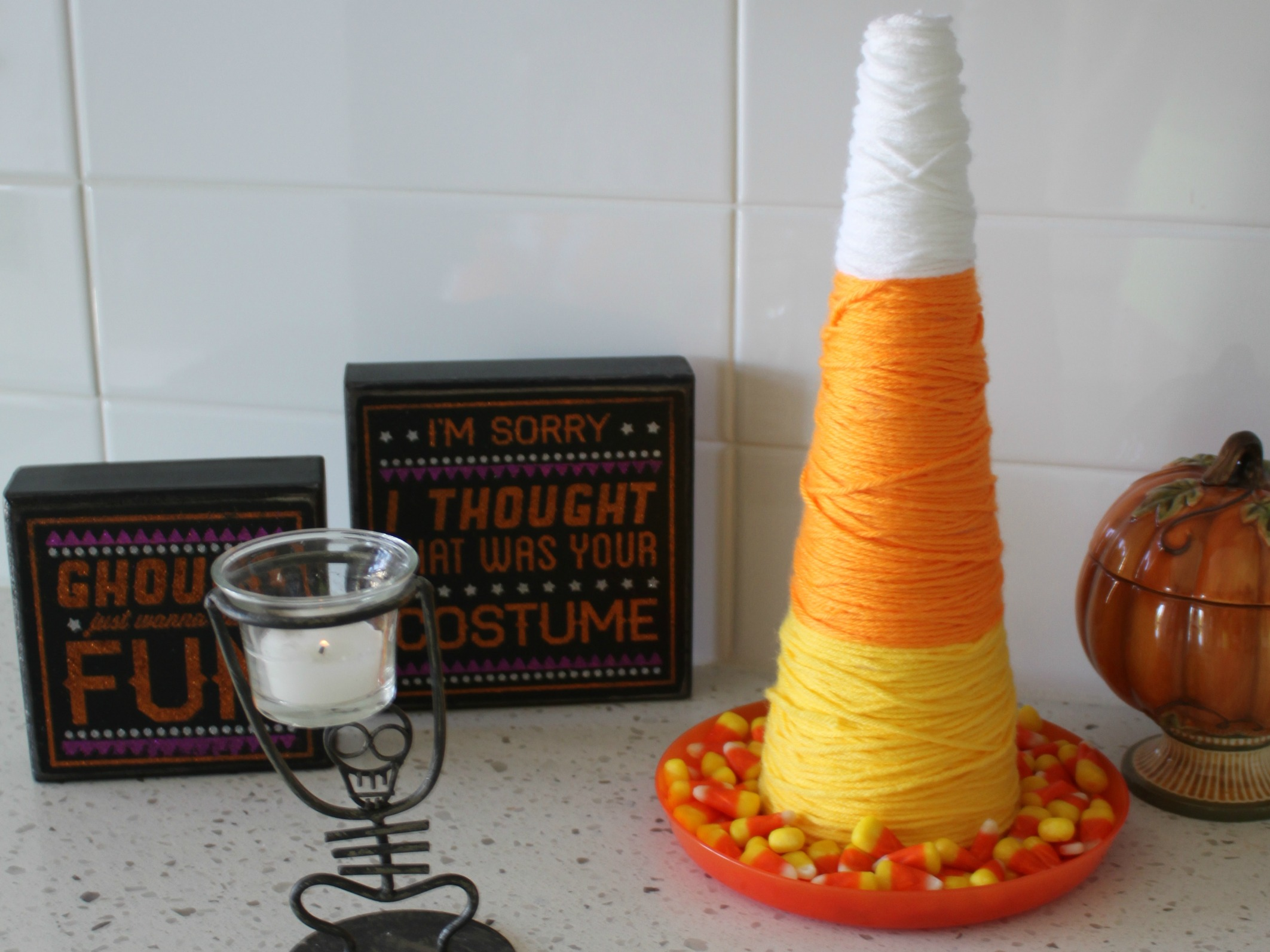 How to Make Cute Candy Corn Decor  {My Life Space Moments}