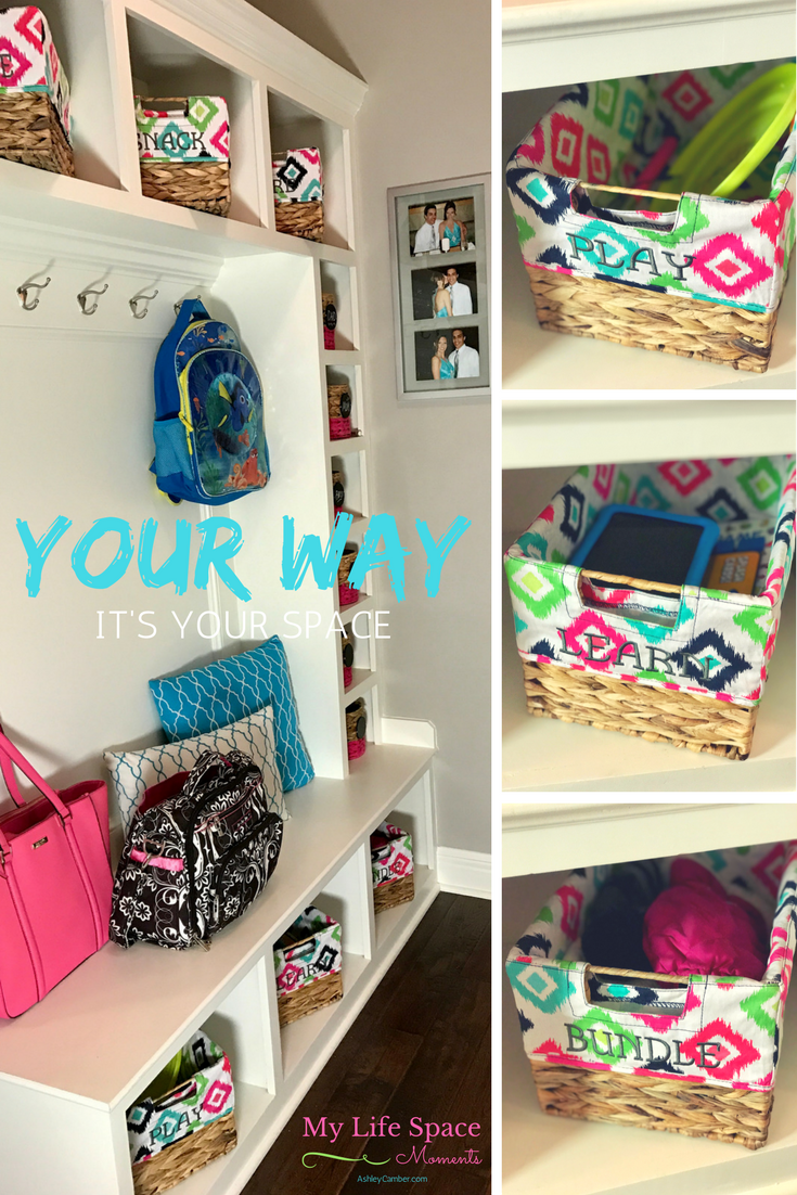 Organizing Your Way: It's Your Space | My Life Space Moments @ AshleyCamber.com