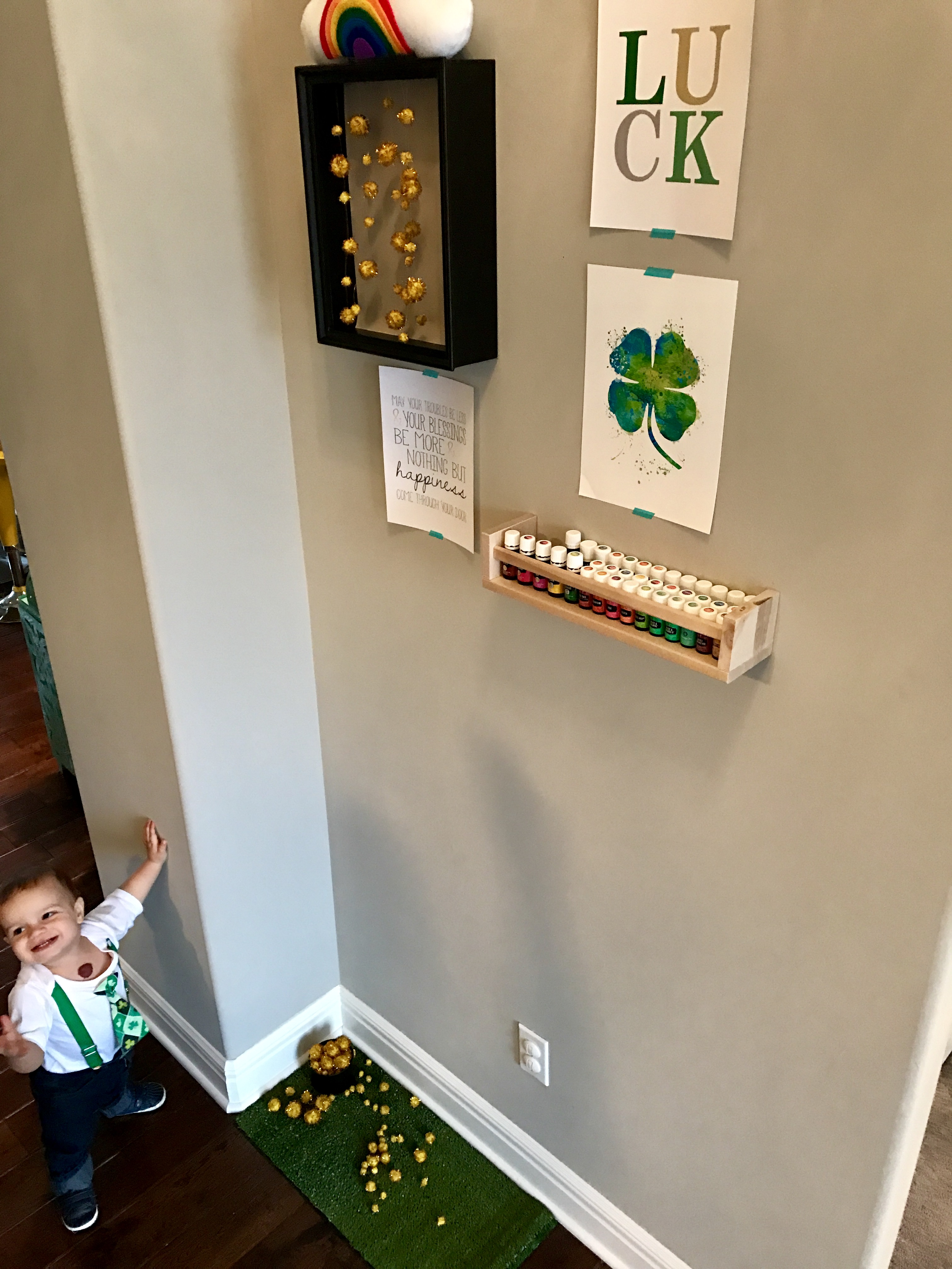 Spritely Leprechaun with St. Patrick's Day Art