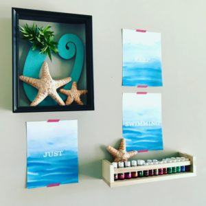 DIY Ocean Air Plant Wreath and Printables Display