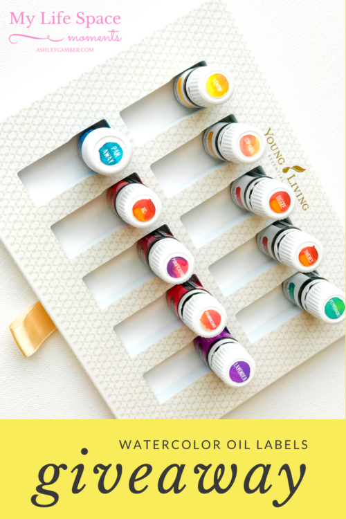 Giveaway - Watercolor Oil Labels