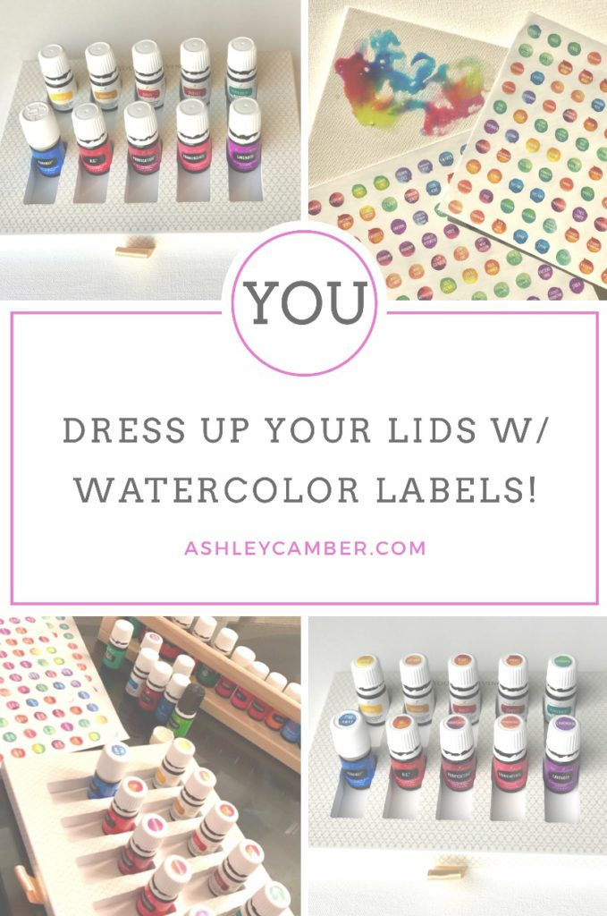 Giveaway! 4 Combo Sets of Watercolor Essential Oil Lid Labels!