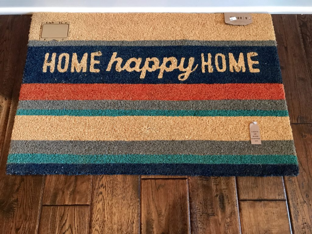 Lighted Floor 9 doormat with step-activated lights.