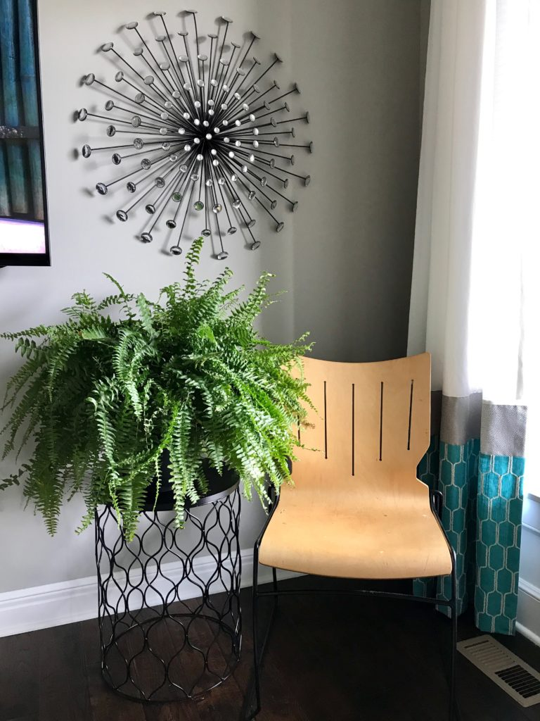 Fern and Mid-Century Wooden Chair Love | My Life Space Moments